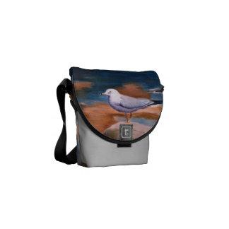 La mini bolsa de mensajero de la gaviota bolsa de mensajería