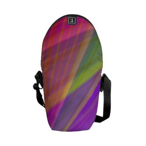 La mini bolsa de mensajero de las rayas tropicales bolsa messenger