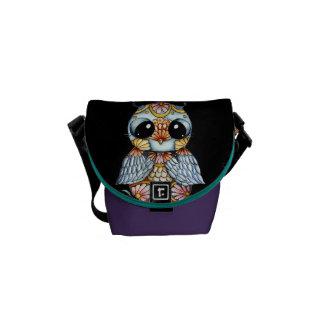 La mini bolsa de mensajero del búho colorido capri bolsas messenger