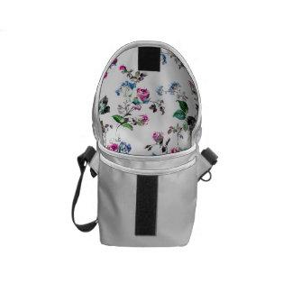 La mini bolsa de mensajero del carrito floral bolsa messenger