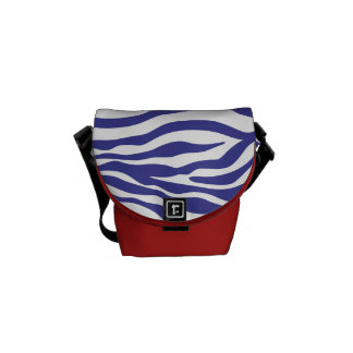 La mini bolsa de mensajero del estampado de zebra bolsa messenger