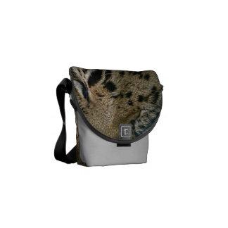 La mini bolsa de mensajero del leopardo de la bolsa de mensajeria