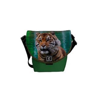 La mini bolsa de mensajero del tigre bolsa messenger