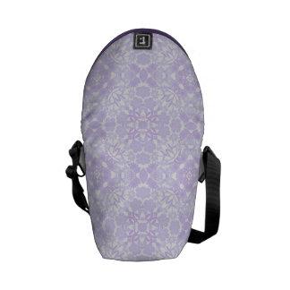 La mini bolsa de mensajero floral geométrica azul bolsa messenger