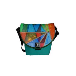 La mini bolsa de mensajero--Naranja del vidrio de  Bolsa De Mensajeria