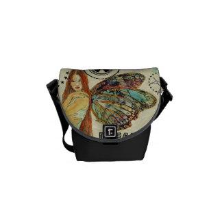 La mini bolsa de mensajero - negro de la hada del bolsas messenger