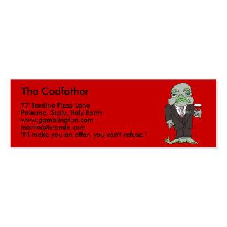 La mini tarjeta de visita de Codfather