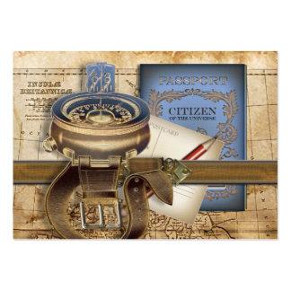 La mini tarjeta de visita de la postal del viajero