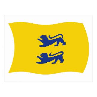 La minoría danesa de Schleswig meridional señala P Tarjeta Postal