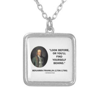 La mirada de Benjamin Frankln antes se encuentra Pendientes Personalizados