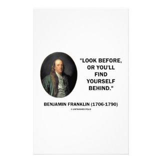 La mirada de Benjamin Frankln antes se encuentra Papelería Personalizada