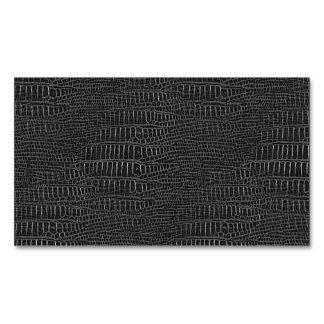 La mirada de la piel realista negra del cocodrilo tarjetas de visita magnéticas (paquete de 25)