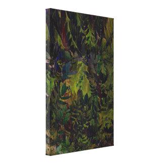 La mirada de la selva lona estirada galerias