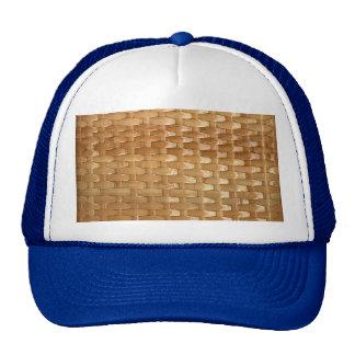 La mirada de la textura de mimbre de Basketweave Gorro