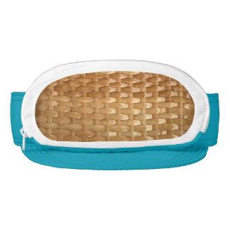 La mirada de la textura de mimbre de Basketweave Visera