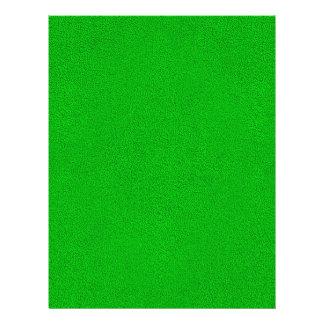"""La mirada del ante verde de neón comodamente folleto 8.5"""" x 11"""""""