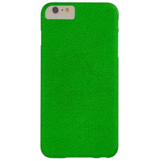 La mirada del ante verde de neón comodamente funda barely there iPhone 6 plus