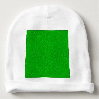 La mirada del ante verde de neón comodamente gorrito para bebe