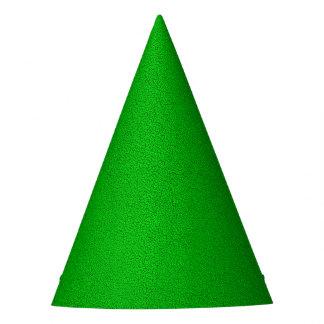 La mirada del ante verde de neón comodamente gorro de fiesta
