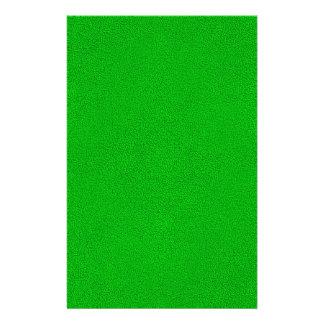 La mirada del ante verde de neón comodamente papeleria personalizada