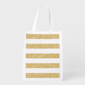 La mirada del brillo de la chispa raya el bolso de bolsas para la compra