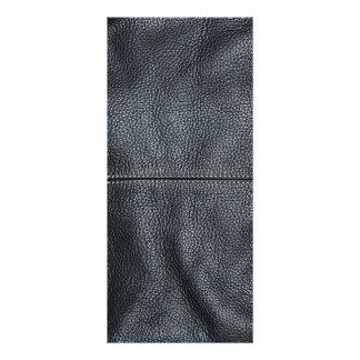 La mirada del grano de cuero negro cosido suavidad tarjeta publicitaria personalizada