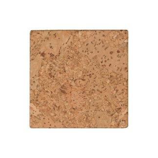 La mirada del grano de madera del Burl del corcho Imán De Piedra