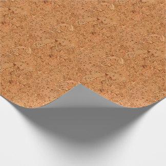 La mirada del grano de madera del Burl del corcho Papel De Regalo