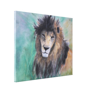 La mirada del león impresiones de lienzo