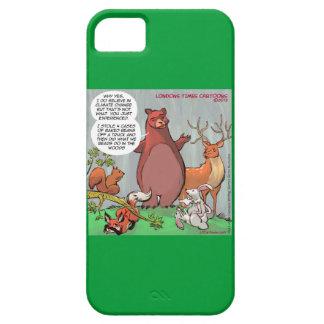 La mirada del oso divertido en el caso del cambio iPhone 5 carcasa