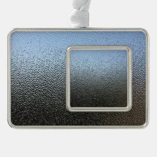 La mirada del vidrio texturizado arquitectónico adornos navideños