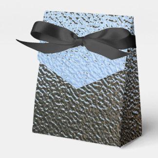 La mirada del vidrio texturizado arquitectónico caja para regalo de boda