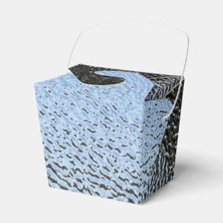 La mirada del vidrio texturizado arquitectónico cajas para regalos de boda