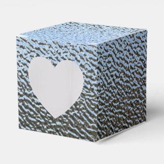 La mirada del vidrio texturizado arquitectónico cajas para regalos de fiestas