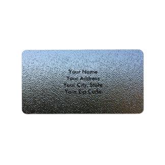 La mirada del vidrio texturizado arquitectónico etiquetas de dirección
