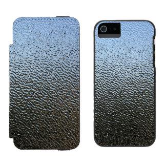La mirada del vidrio texturizado arquitectónico funda billetera para iPhone 5 watson