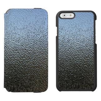 La mirada del vidrio texturizado arquitectónico funda billetera para iPhone 6 watson