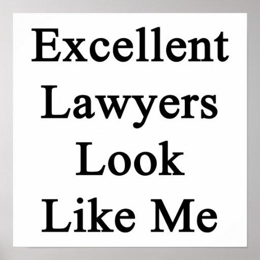 La mirada excelente de los abogados tiene gusto de poster