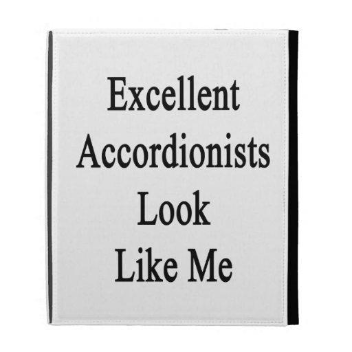 La mirada excelente de los acordeonistas tiene gus