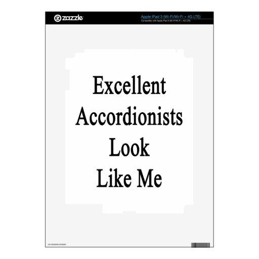 La mirada excelente de los acordeonistas tiene gus iPad 3 skins