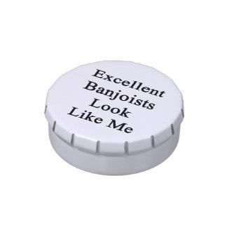 La mirada excelente de los Banjoists tiene gusto d