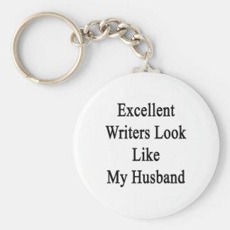 La mirada excelente de los escritores tiene gusto llavero