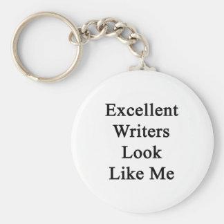 La mirada excelente de los escritores tiene gusto llaveros