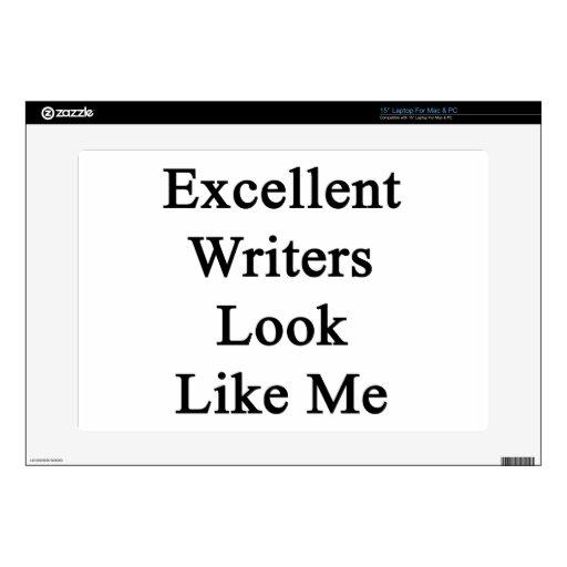 La mirada excelente de los escritores tiene gusto  calcomanía para portátil