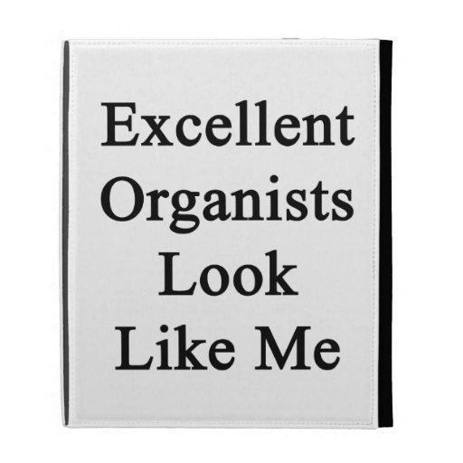 La mirada excelente de los organistas tiene gusto