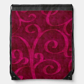 La mirada grabada en relieve terciopelo rosado mochila
