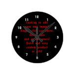 la mirada para añadir los propios diseña para el p reloj de pared