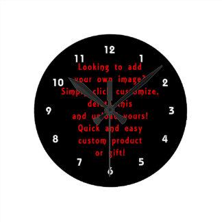 la mirada para añadir los propios diseña para el p reloj redondo mediano