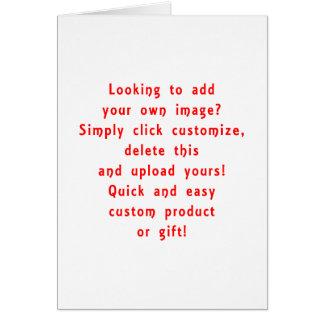 la mirada para añadir los propios diseña para el tarjeta de felicitación