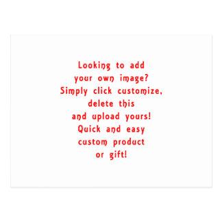 la mirada para añadir los propios diseña para el tarjeta postal